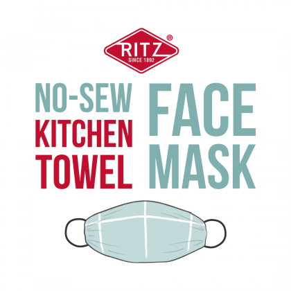 Learn How to Make Your Own No-Sew Kitchen Towel Face Mask